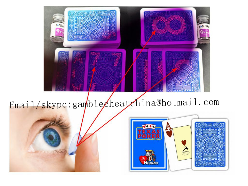 Modiano Texas Hold'em poker marked cards for gamble cheat/invisible ink/contact lenses