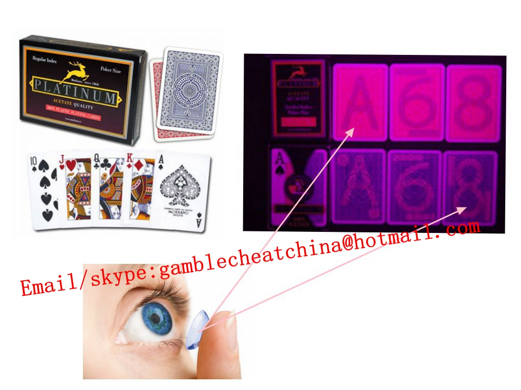 Modiano platinum plastic marked playing cards/invisible ink/perspective glasses/uv contact lenses/uv ink