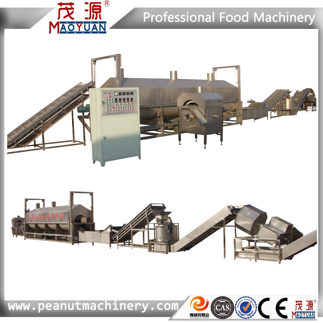 Automatic Frying peanut/broad bean production line/processing line/making machine/production equipment/processing equipment