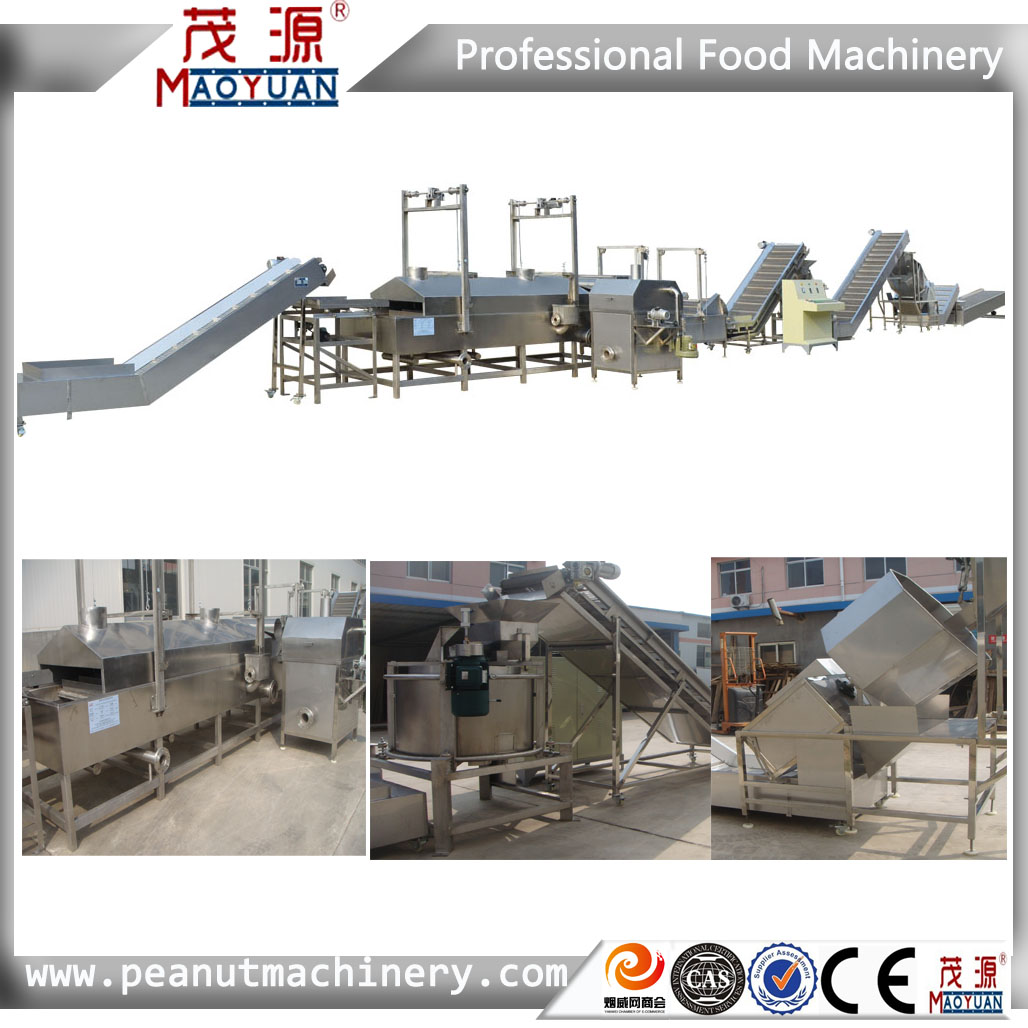100% Manufacturer Complete stainless steel  Continuous frying machine/fryer