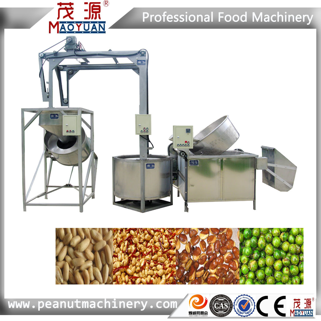 High quality Stainless steel cashew nut frying machine/fryer/frying cashew nut equipment