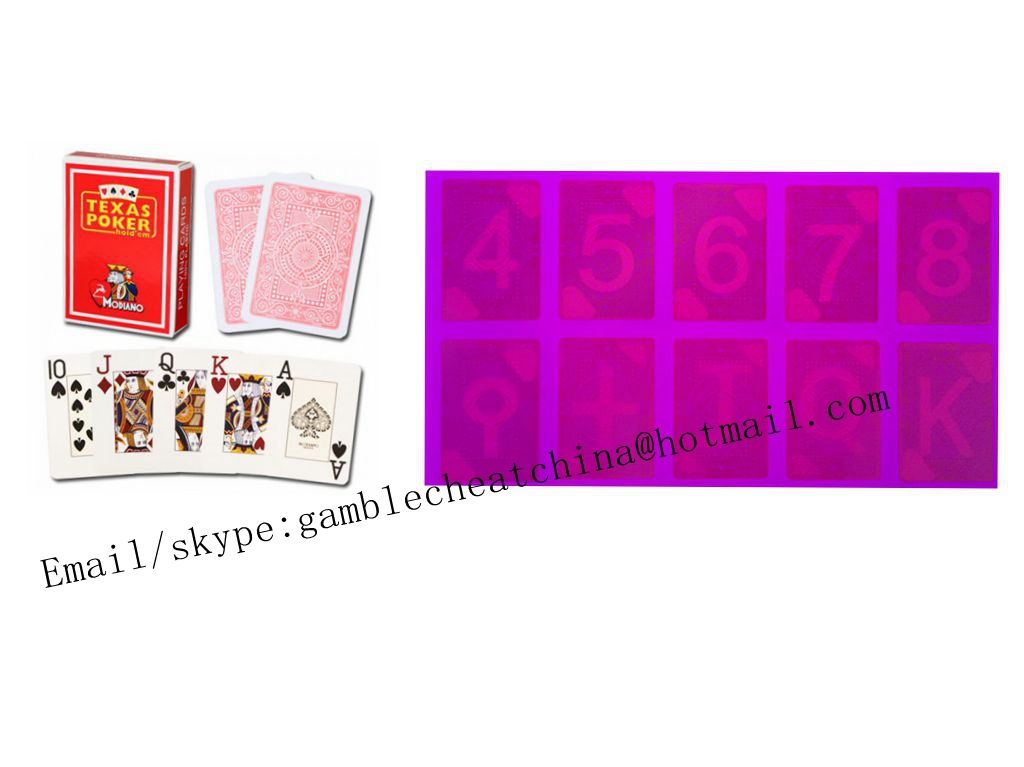 Italy Modiano Texas Hold'em poker cheat/marked playing cards/uv contact lenses/uv ink/casino cheat/magic trick
