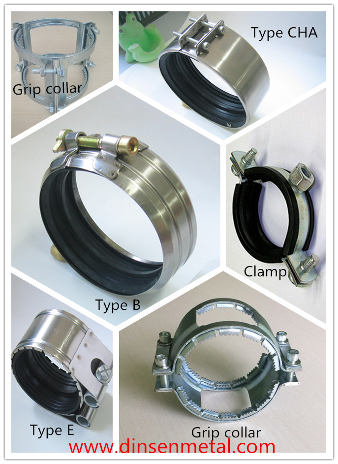 Couplings for cast iron pipes and fittings