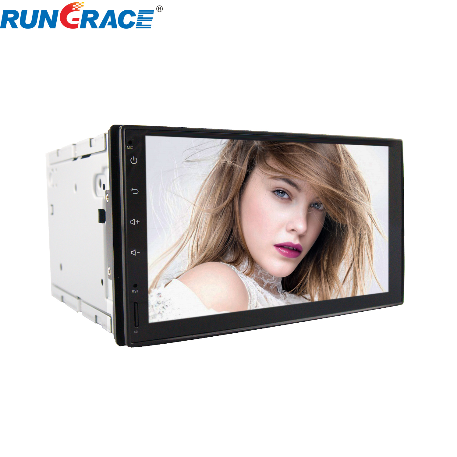 Rungrace China supplier universal car dvd gps navigation system bluetooth reverse camera