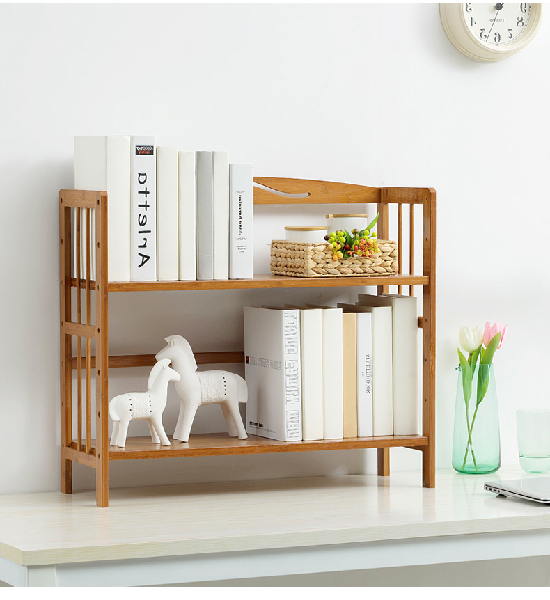 Modern Design Wooden Book Rack Case with Adjustable Height