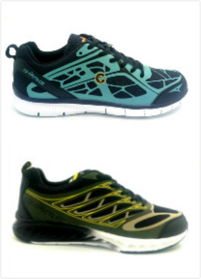 Blue/Dark green rubber printed craftwork men sport mesh shoes with phylon outsole
