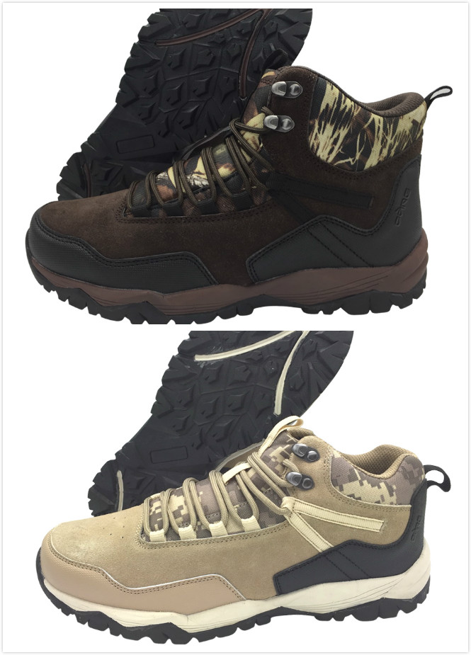 High cut/Low cut camo outdoor shoes with camouflage fabric