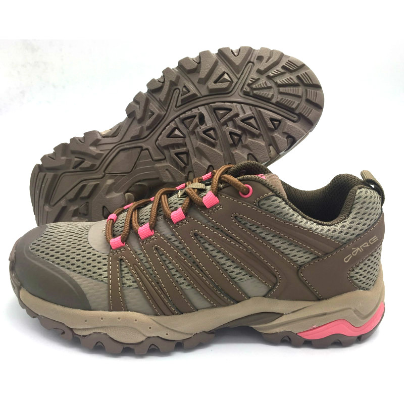 Taupe synthetic textile upper ladies outdoor shoes