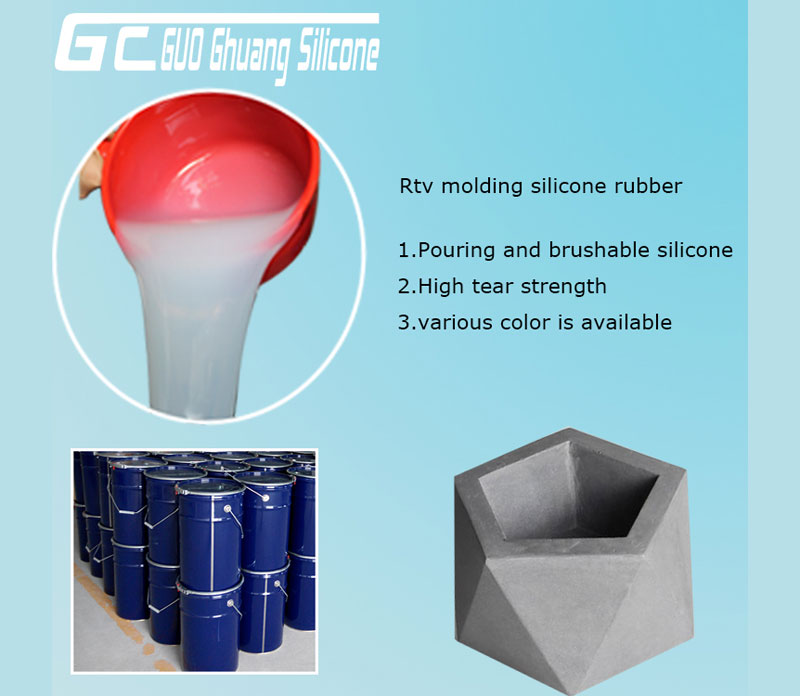 China liquid Silicone mold making material for concrete/artificial stone casting
