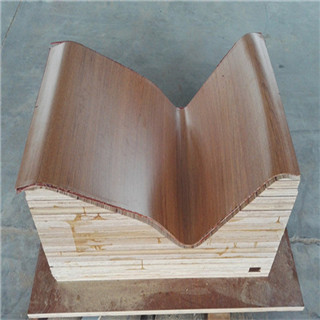 E1 grade customized shape bending wood from china manufacture