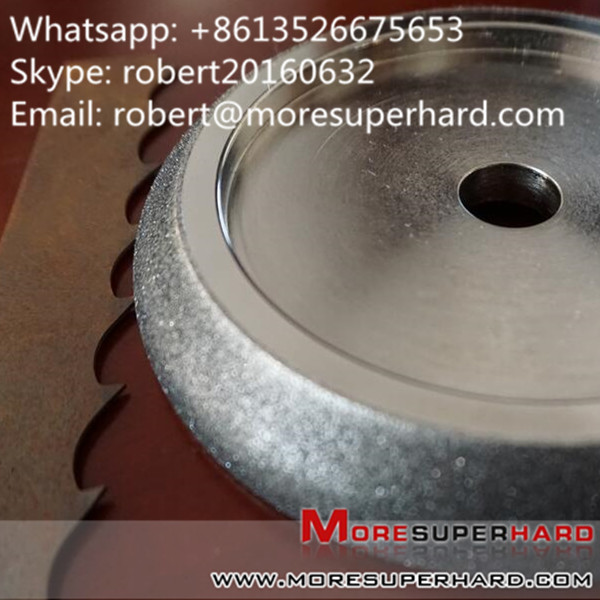 Electroplated CBN Grinding Wheel for Band Saw Blade