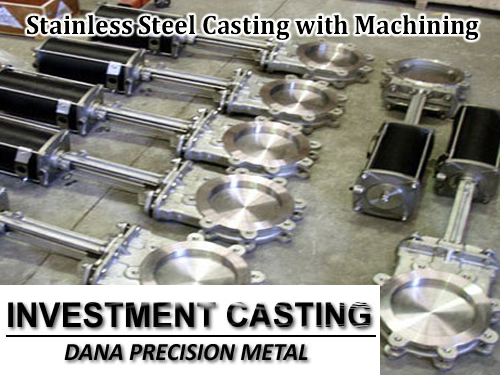 customized Stainless steel casting with machining