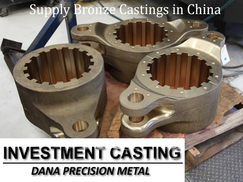 China professional foundry supply cast brass parts bronze casting