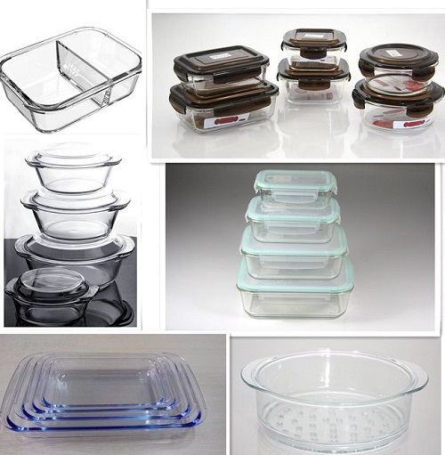 High Borosilicate glass casserole with glass lid pyrex glass round casseroleglass Food Storage Containers
