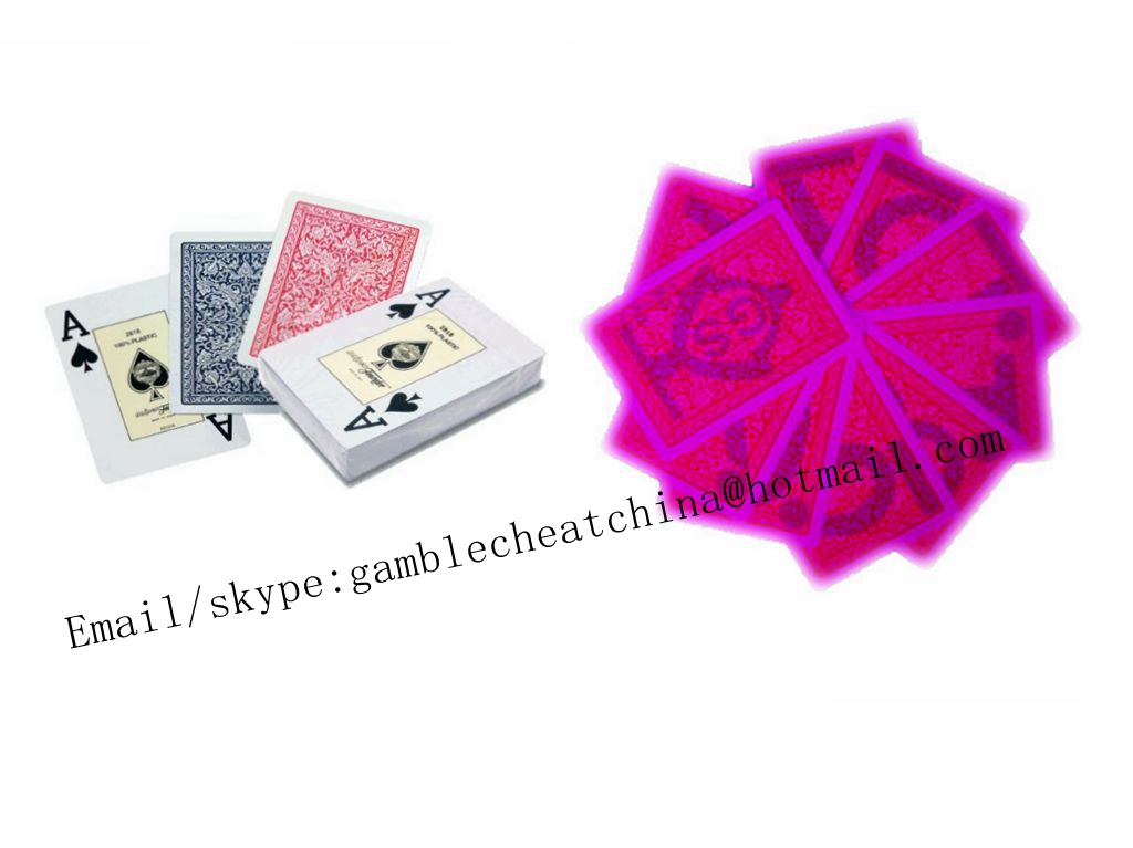 Fournier 2818 plastic marked playing cards for casino cheat/uv contact lenses/invisible ink/perspective glasses/poker trick/gamble cheat