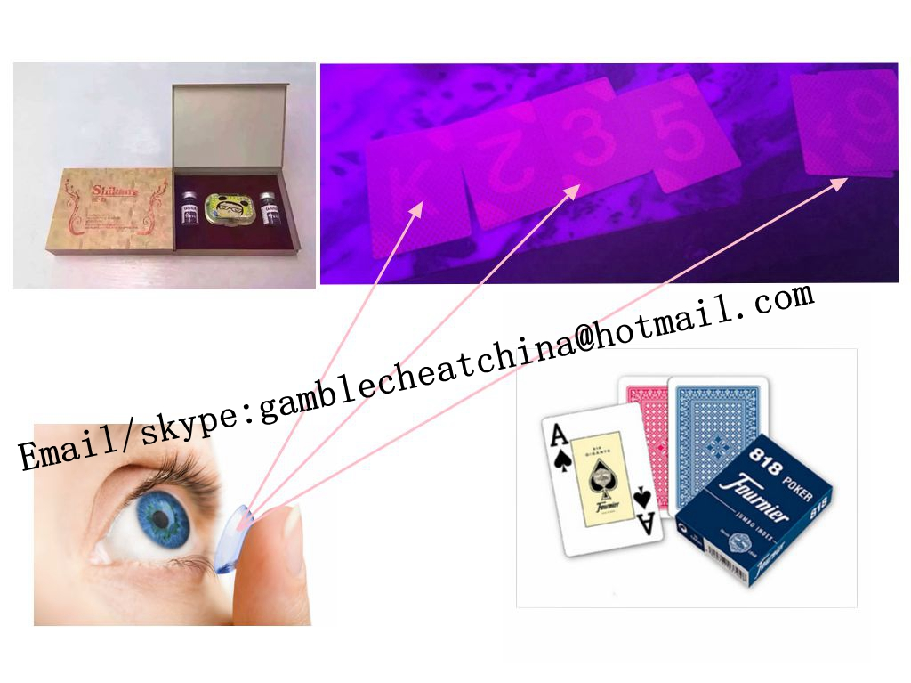Fournier 818 spy playing marked cards/uv perspective glasses/contact lenses/poker cheating device/luminous marked cards/magic poker cards/casino cheat