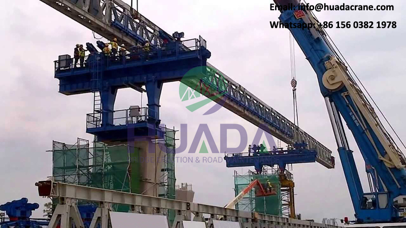 300 ton bridge erecting cranes beam launcher machine for subway bridge construction