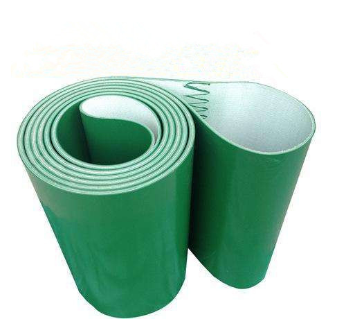 Green 2.0 mm thickness PVC industrial conveyor belt