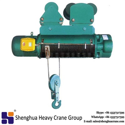 High efficiency 5t cd1 md1 type wire rope electric hoist