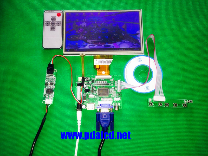 INNOLUX Raspberry Pi LCD Touch Screen Display TFT Monitor AT070TN92 + Touchscreen Kit HDMI VGA Input Driver Board