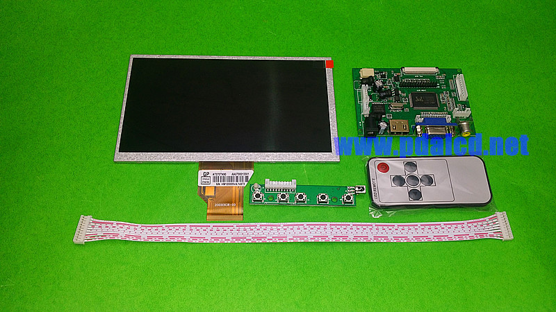 7.0 inch Raspberry Pi LCD Display Screen for INNOLUX TFT LCD Monitor AT070TN90 + Kit HDMI VGA Input Driver Board