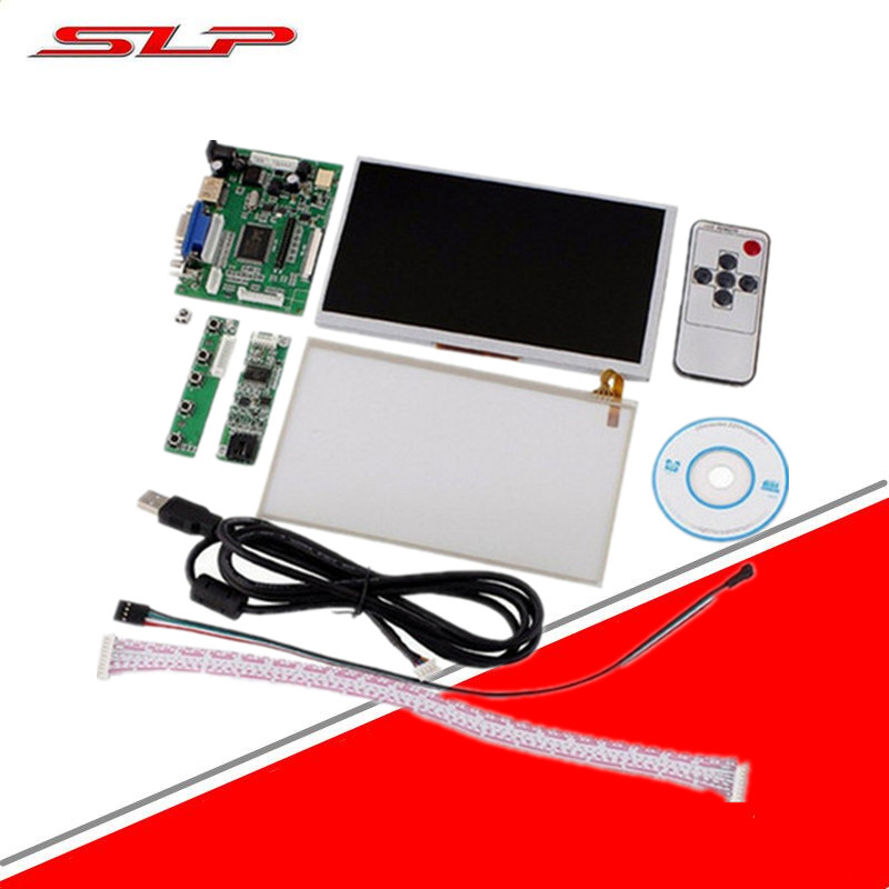 LCD Touch Screen Display TFT Monitor AT070TN90 / AT070TN90 Touchscreen Kit HDMI VGA Input Driver Board Free ship