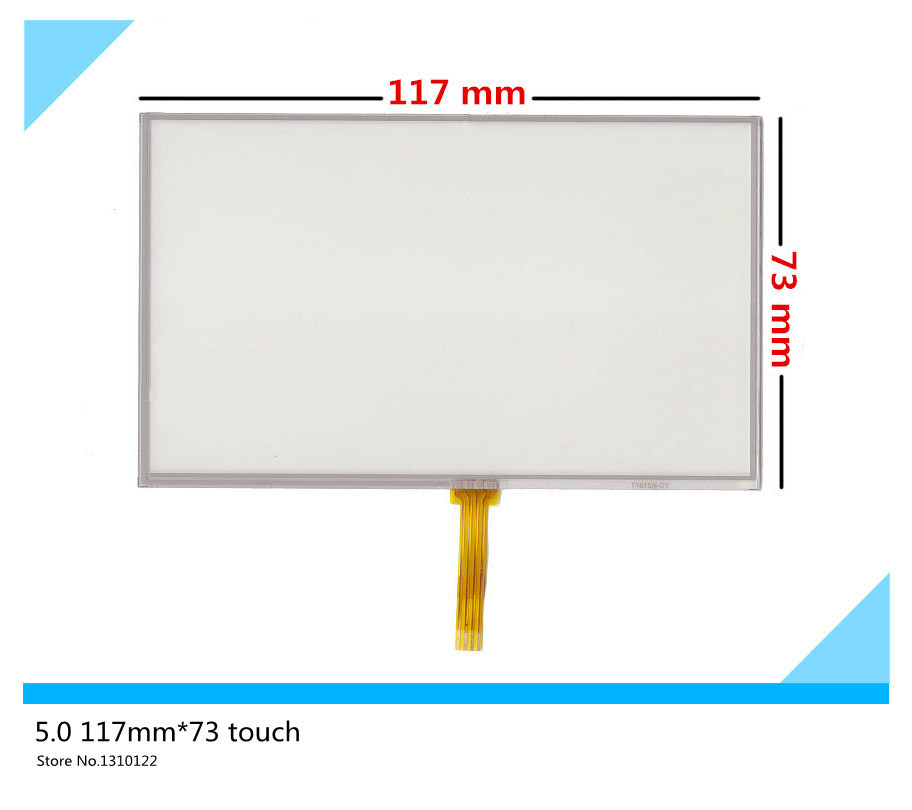 5 inch 117mm*73mm Resistive Touch Screen Digitizer for GPS navigator MP4 HSD050IDW1 touch Panel Glass Free shipping