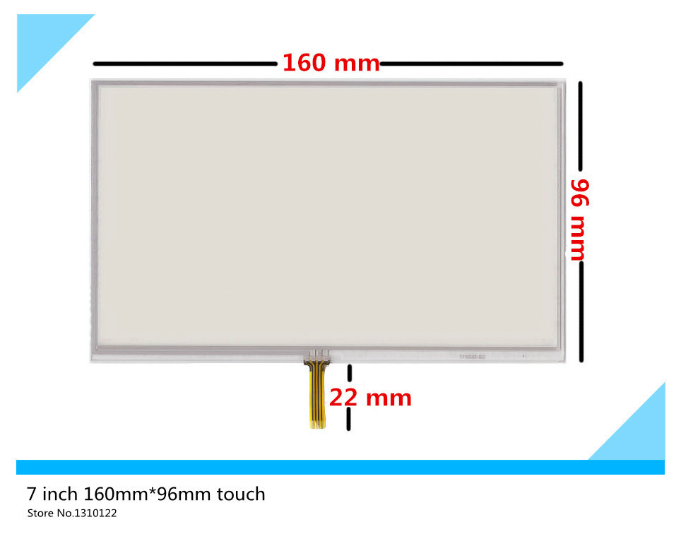 7 inch 4 wire 160mm*96mm Resistive Touch Screen Digitizer for GPS navigator Car navigation DVD X10 X20 LCD Free shipping