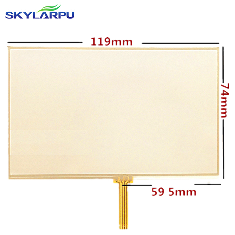 5-inch Touch screen panels for TomTom VIA 115 125 135 GPS Touch screen digitizer panel replacement 119mm*74mm