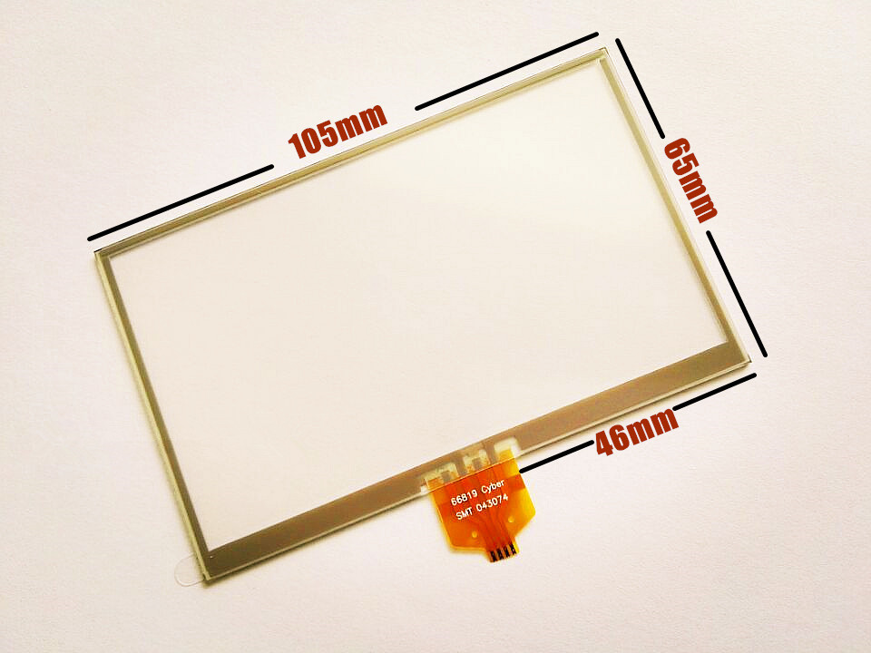 105mm*65mm 4.3-inch Touch screen panels for LMS430HF14 LMS430HF15 GPS Touch screen digitizer panel replacement Free shipping