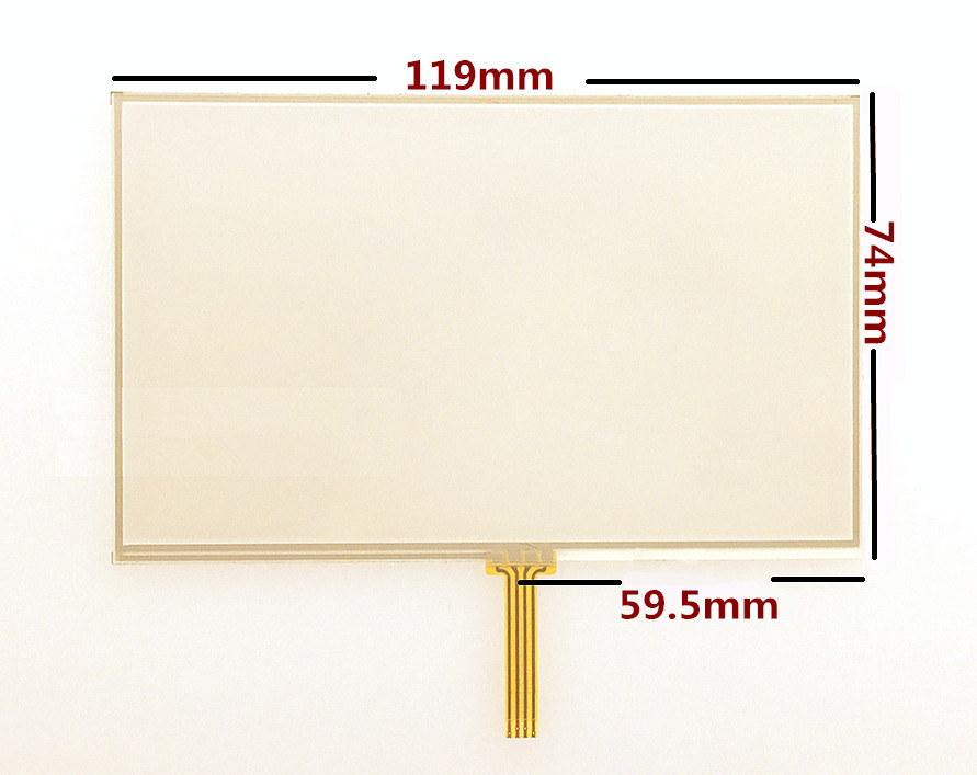 5-inch Touch screen panels for TomTom Start 25 GPS Touch screen digitizer panel replacement 119mm*74mm Free shipping