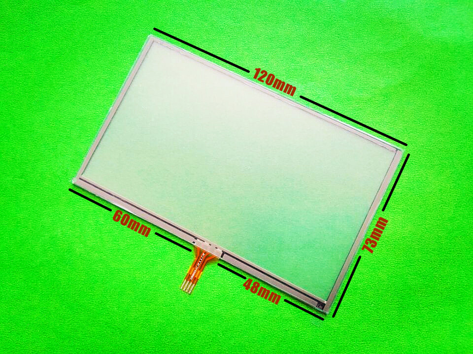 5-inch 120mmx73mm Touch screen for 120mm*73mm GPS Touch screen digitizer panel replacement Free shipping