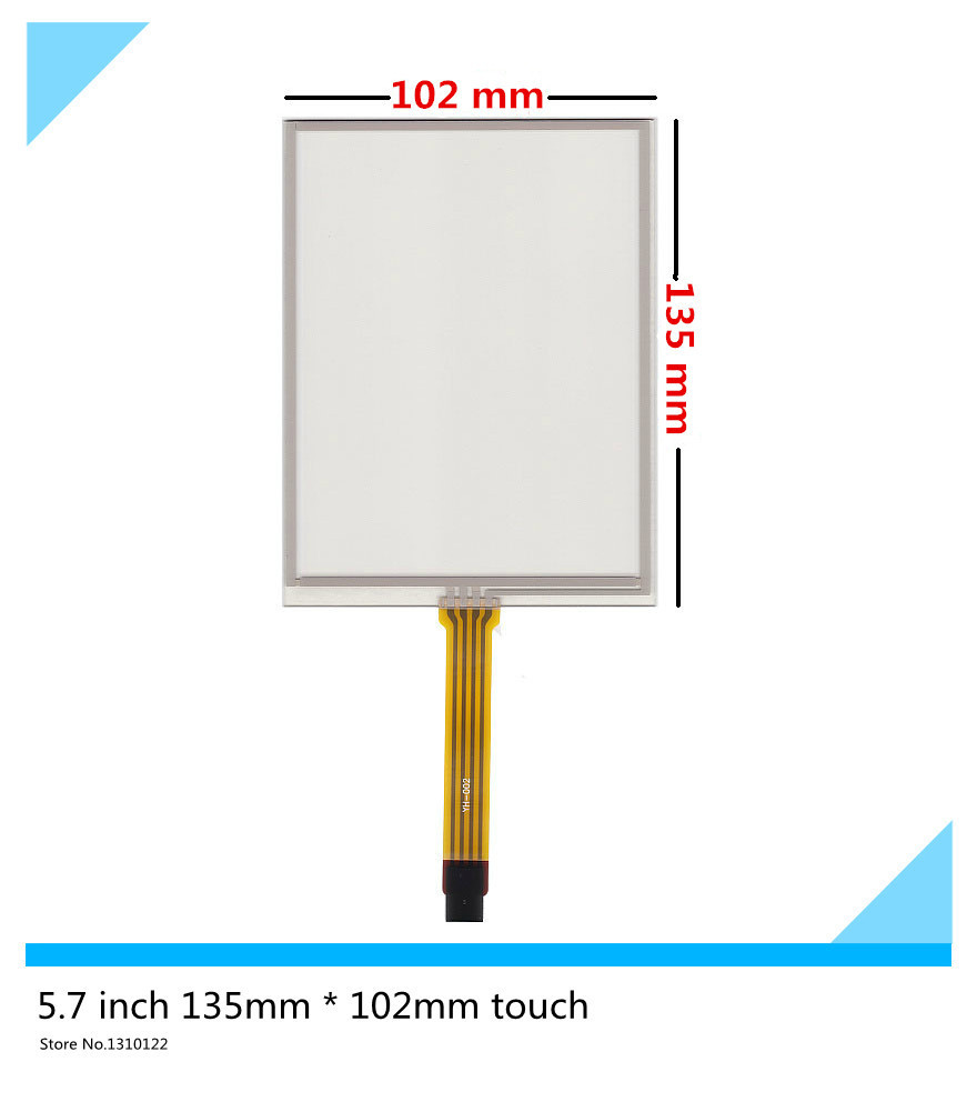 5.7 inch 4 wire touch panel 135mm*102mm Resistive Touch Screen Digitizer AMT9105 for Industrial equipment Free shipping