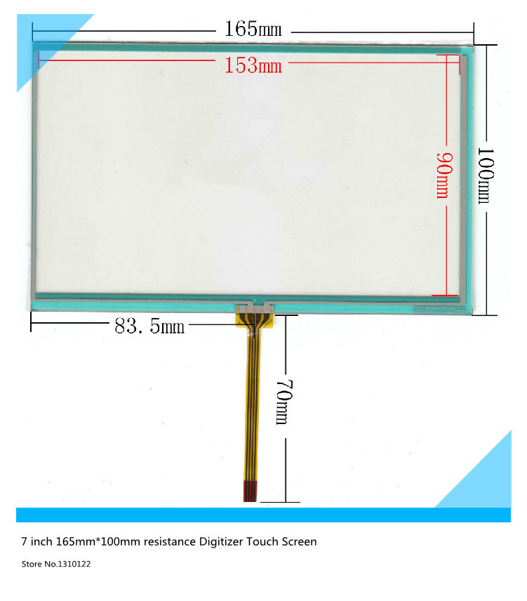7 inch 165mm*100mm Resistive Touch Screen Digitizer for siemens 700:6AV6 648-0AC11-3AX0 touch panel glass free shipping