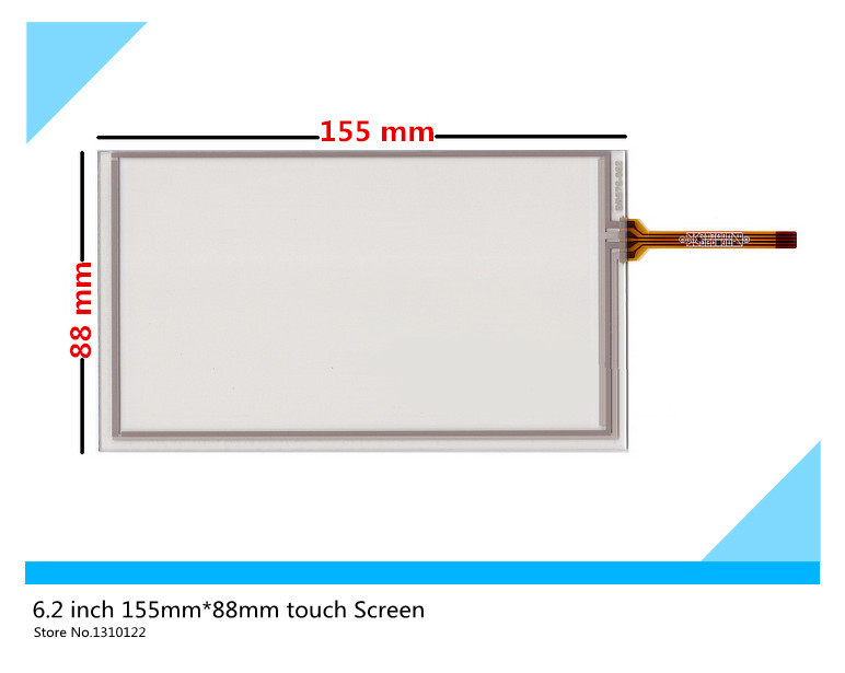 6.2 inch 4 wire 155mm*88mm Resistive Touch Screen Digitizer HSD062IDW1 A00 A20 TM062RDH03 touch panel free shipping