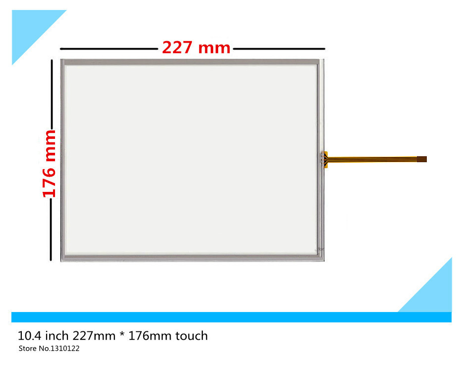 10.4 inch 4 wire 227mm*176mm Resistive Touch Screen Digitizer for MP277-10 TP270-10 LSA40AT9001 ; Tsudakoma ZAX-N Free shipping