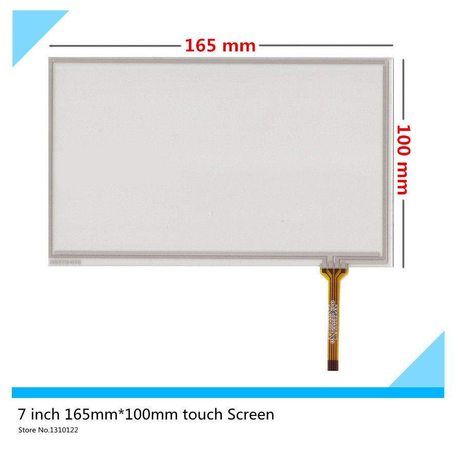 7 inch 4 wire 165mm*100mm Resistive Touch Screen Digitizer for GPS navigator HSD070IDW1-D00 E11 AT070TN94 TN90 TN92
