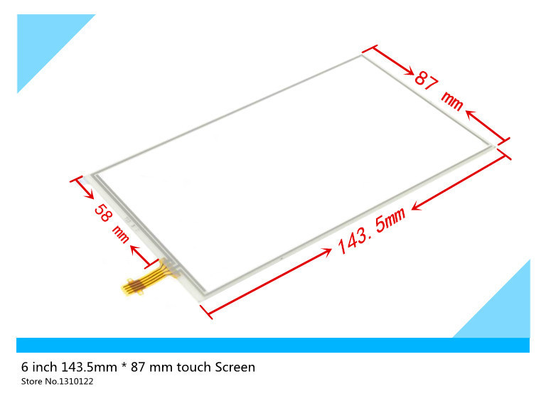 6 inch 143.5mm*87mm 143mm*87mm Touch Screen glass Digitizer resistance touchscreen Replacement With glue Free shipping
