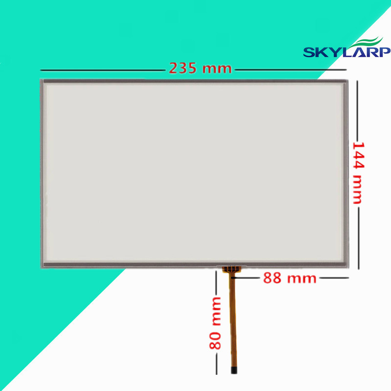 10.2 inch 4 wire 235mm*144mm Resistive Touch Screen Digitizer for Industrial equipment