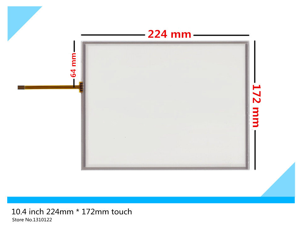 10.4 inch 4 wire 224mm*172mm Resistive Touch Screen Digitizer AMT9105 B touch panel Glass Freee shipping