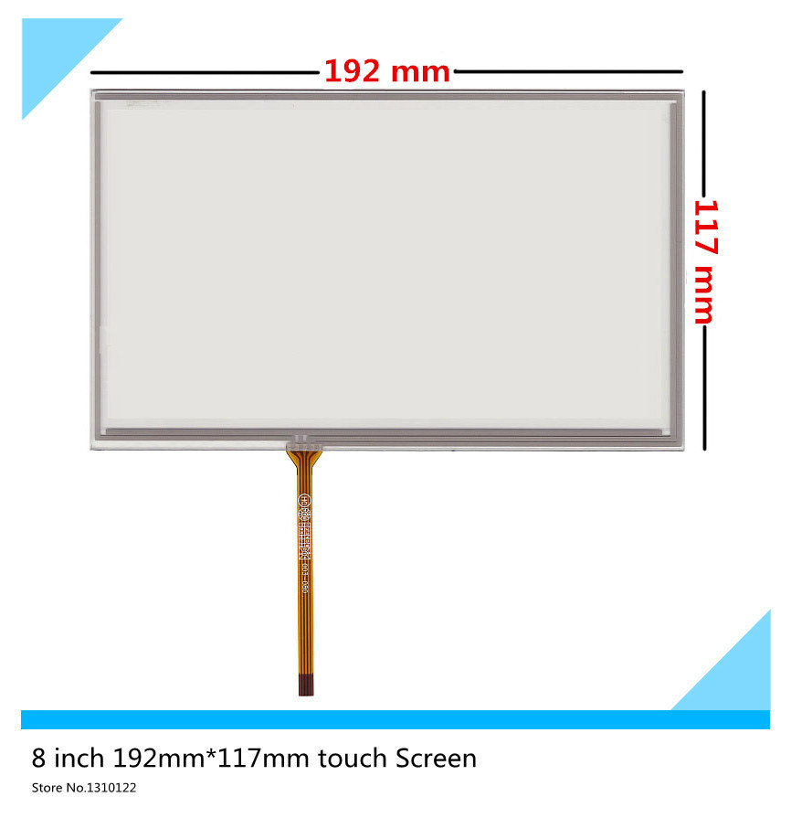 8 inch 4 wire 192mm*117mm Resistive Touch Screen GPS Car navigation DVD HSD080IDW1 AT080TN64 AT080TN03 touch panel