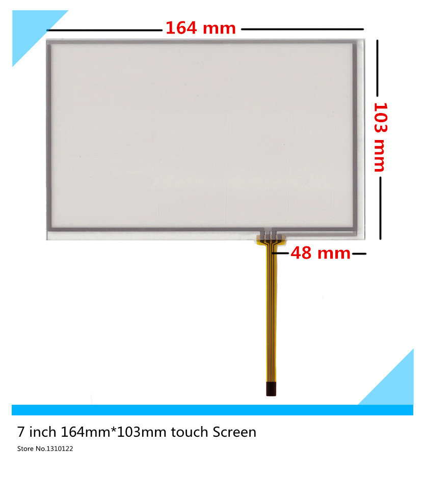 7''inch 4 wire 164mm*103mm Touch Screen Digitizer Car navigation DVD AT070TN83 V.1 AT070TN84 82 touch panel