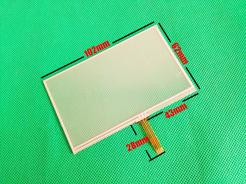 4.3-inch 102mm*62mm Touch screen panels for AT043TN24 V.1, GPS navigator,102*62mm Touch Screen Digitizer Panel 102mm*62mm