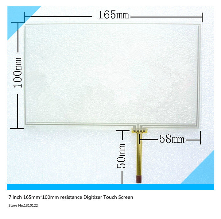 7 inch 4 wire 165mm*100mm Resistive Touch Screen Digitizer for Car navigation DVD tablet PC touch panel free shipping