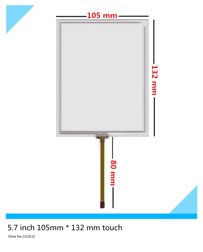 5.7 inch industrial touch screen Resistive Touch Screen Digitizer Handwritten screen display on the outside for Launch X431 GX3