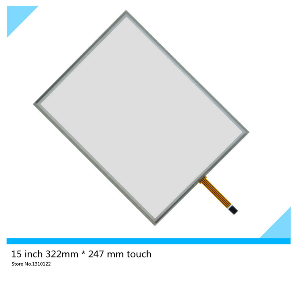 15 inch 4 wire 322mm*247mm Resistive Touch Screen Digitizer for cash register queuing machine Display the touchpad touch panel