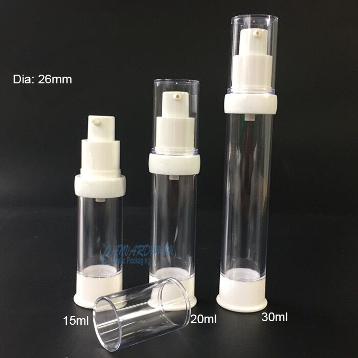 Clear airless cosmetic bottle 15ml-20ml-30ml