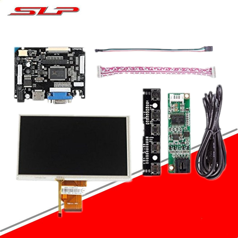 7inch Complete LCD Display Touch Screen TFT Monitor AT070TN90 HDMI VGA Input Driver Board Controller Raspberry Pi