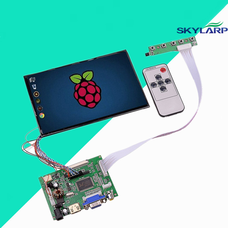 7inch High Resolution 1280*800 IPS 39 Pins Screen Multifunctional Driver Board with AV2 HDMI VGA for Raspberry Pi