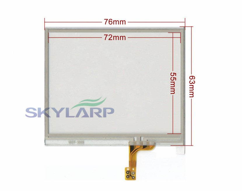 3.5 Inch Touch Panel for 3.5 TFT LCD Module for LQ035NC111 LQ035NC211 76mmx63mm touch panel Glass Free shipping